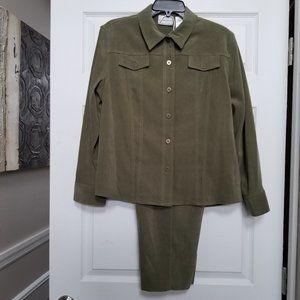 Alfred Dunner Sage/Olive Green Pants Suit : 14P
